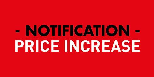 Price Increase Customer Notification 2018 Cattani Uk