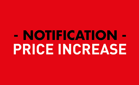 Price Increase – Customer Notification 2018 – Cattani UK